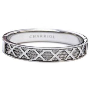 Charriol Forever bangle bracelet silver stainless